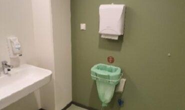 Puhastusimport lao tualettruum. Ainus seinale paigaldatav Longopac süsteem – sobilik väikestesse ruumidesse.